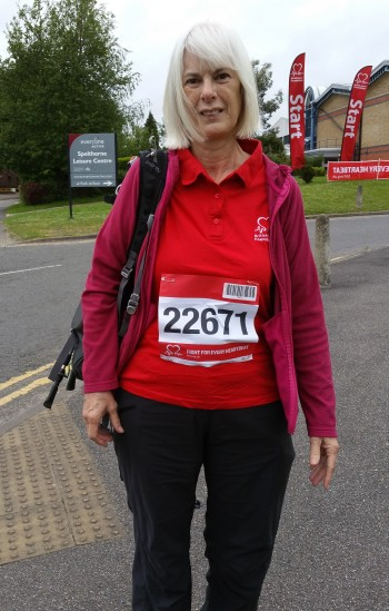 Cathy at start of walk